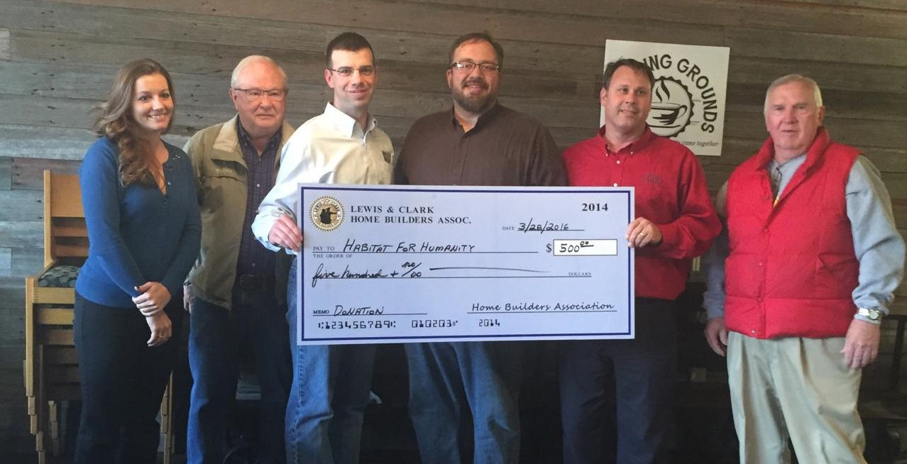 Habitat Receives Money from Home Builders